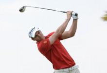 Borja Virto contra viento y marea en la primera jornada del Australian PGA Champ. Es 7º al par