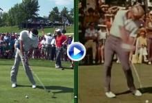 La tecnología convirtió a Nicklaus en zurdo y lo comparó con Bubba Watson ¡sorprendente! (VÍDEO)