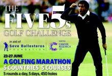 5 paises, 5 campos y 25 rondas en 5 días: Un desafío en beneficio de la Fundación Seve