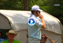 La anécdota: Justin Leonard atendió el teléfono de un voluntario cuando le sonó en el tee (VÍDEO)