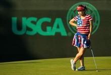 Lucy Li (11 años) debutó con 78 golpes en el US Open y la bandera USA por vestido