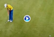 Rafa Cabrera-Bello tuvo la victoria en su mano pero erró este putt en el tercer hoyo del PlayOff (VÍDEO)