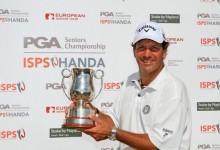 Luna ya luce nuevo trofeo: «Me siento orgulloso porque no es un torneo cualquiera, es el PGA»