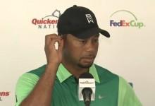 """Tiger, satisfecho a pesar de firmar 74: """"Jugué mejor que lo que indica el resultado, lo cual es bueno"""""""