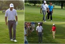 """Tiger jugó el ProAm: """"Se le ve bastante bien para el torneo, dio golpes muy buenos"""""""