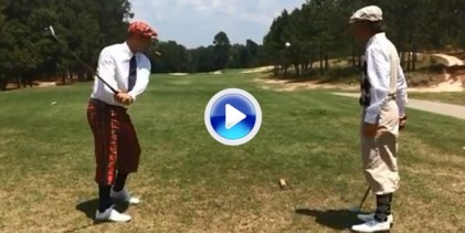 Los hermanos Bryan rindieron homenaje al Open con la British Open Golf Trick Shots Edition (VÍDEO)