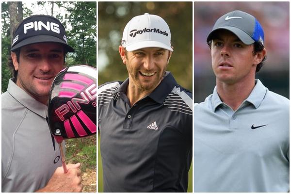 Bubba Watson, Dustin Johnson y Rory McIlroy son tres de los bombarderos del Tour