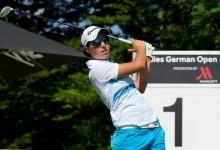 Carlota Ciganda rozó la machada en Alemania. El 63 firmado no fue suficiente, pero subió al podio