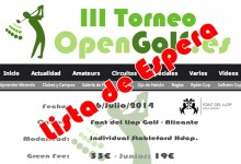 El éxito del III Torneo OpenGolf ya está asegurado antes de su comienzo
