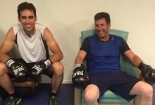 Olazábal y Cabrera-Bello se desestresan haciendo guantes con su entrenador
