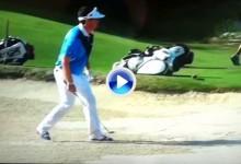 Keegan Bradley y sus manías antes de dar un golpe. Algunas de ellas son de chiste (VÍDEO)