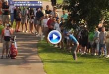 Tirazo de Schwartzel en Akron. Realizó un «hook» desde el rough dejando la bola a un palmo (VÍDEO)