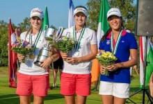 Esta imagen quedará para la historia, Luna Sobrón y Noemí Jiménez, campeona y subcampeona de Europa