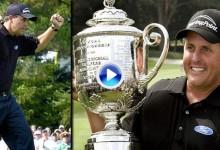 """Mickelson conquistó el PGA Championship gracias a su golpe mágico. Así fue el """"Flop Shot"""" (VÍDEO)"""
