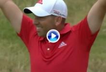¡Para empezar, eagle! Tirazo de Sergio García en el segundo hoyo más difícil de Royal Liverpool (VÍDEO)