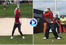 La japonesa Sakura Yokomine, la John Daly del golf femenino. Compare el swing de ambos (VÍDEO)