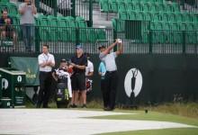 Tiger Woods ya entrena en Royal Liverpool. Jugó 12 hoyos con Patrick Reed