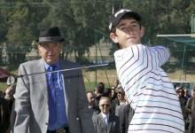 Víctor, hijo de Miguel Ángel Jiménez, colíder del Lacoste Promesas tras la 1ª vuelta en La Cañada