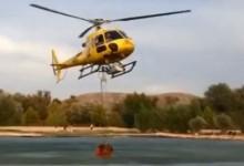 El lago del Club de Golf Aranjuez fue clave en la extinción de un incendio (Crónica y Vídeo)