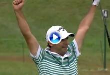 Explosión de alegría del paraguayo Zanotti: Se fue del US PGA con su eagle bajo el brazo (VÍDEO)