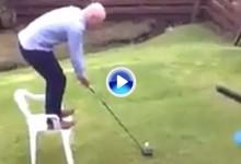 Otra majadería: De nuevo quedó demostrado que el golf y el alcohol no son buenos compañeros (VÍDEO)