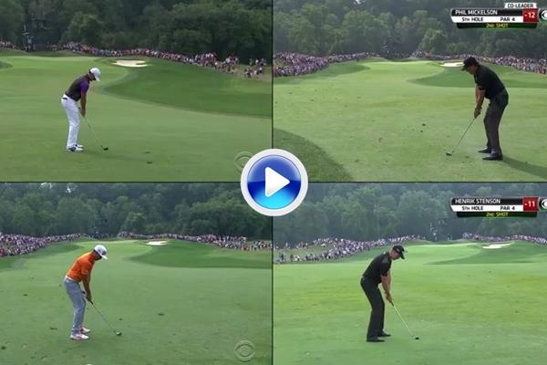 Fantástico VÍDEO que combina a McIlroy, Fowler, Mickelson y Stenson en la ronda final del US PGA