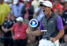 Este es el resumen de la ronda final de la 96ª edición del US PGA. 3 minutos históricos (VÍDEO)