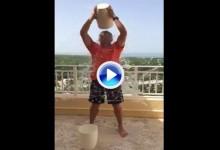 Sergio García, el último en aceptar el reto del Ice Bucket. Se echó dos cubos de agua helada (VÍDEO)