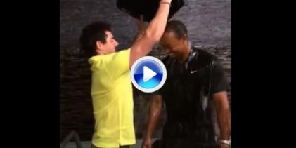 McIlroy y Tiger aceptaron mutuamente el desafío del Ice Bucket y Rory reta a George W. Bush (VÍDEO)