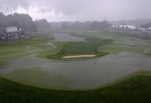 Valhalla queda anegado por las fuertes lluvias. Juego suspendido (Ver FOTOS)