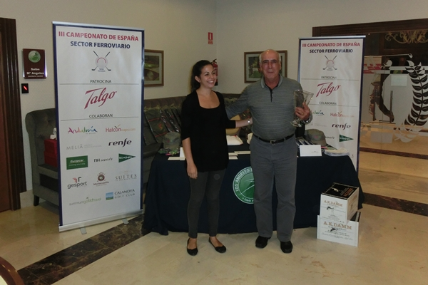 Angel Letosa con el trofeo de ganador scratch
