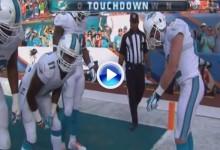 Un jugador de la NFL sancionado por celebrar un touchdown simulando embocar un putt (VÍDEO)