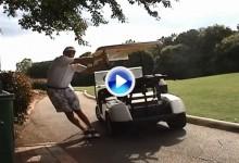 Un buggie también puede servir de ayuda para realizar unos estiramientos (VÍDEO)