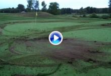 Un vándalo destroza dos campos de golf con su vehículo después de que su novia le dejara (VÍDEO)