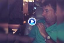 El susto de Rory McIlroy a su caddie en el avión ya está dando la vuelta al mundo (VÍDEO)