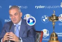 Así dio a conocer McGinley la lista del equipo europeo de la Ryder Cup (VÍDEO)