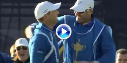Extraordinario Sergio, embocó desde el búnker en una difícil posición (VÍDEO)