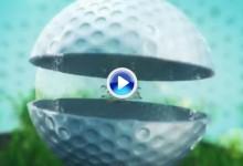 ¿Alguna vez se preguntó como es una bola de golf por dentro? Aquí se lo explicamos (VÍDEO)