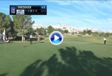 Snedeker ejecutó el chip rodado perfecto para adjudicarse el golpe del día en el PGA Tour (VÍDEO)