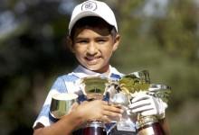 Dylan Reales, un prodigio del golf que con 10 años empezó jugando con un palo de escoba… roto