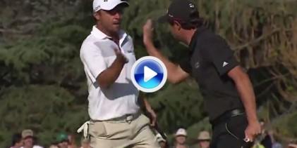 Echenique y Domínguez se apuntan la victoria en la America's Golf Cup con eagle en el último hoyo (VÍDEO)