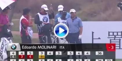 ¡Atención! Hoyo en Uno del italiano Edoardo Molinari en el BMW Masters (VÍDEO)