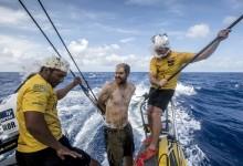 La flota de la Volvo Ocean Race cruza el Ecuador donde Neptuno espera