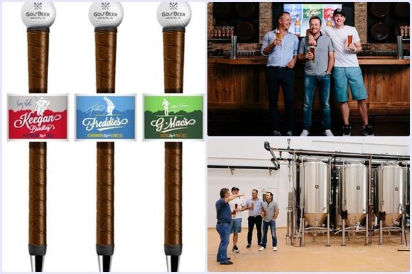 """G-Mac, Bradley y Jacobson crean la marca de cerveza """"GolfBeer Brewing"""" para golfistas"""