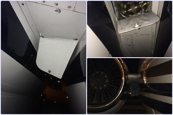 Susto monumental de Harrington al desprenderse una parte del fuselaje del avión en el que viajaba