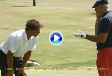 Rafa Nadal sorprende a golfistas simulando amnesia tras recibir un bolazo (VÍDEO)