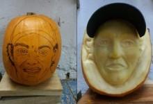 El rostro de McIlroy, número uno del planeta, inmortalizado en una calabaza