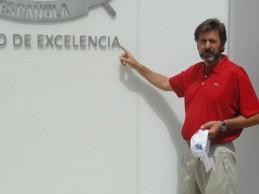 Salvador Luna, técnico de la RFEG , premiado con el galardón The John Jacobs Award