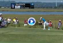 Will MacKenzie ni se enteró cuando hizo el Hoyo en Uno en el McGladrey Classic  de Sea Island (VÍDEO)