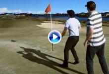 ¿El golpe más increíble jamás visto? Hoyo en uno con un bate de beisbol (VÍDEO)